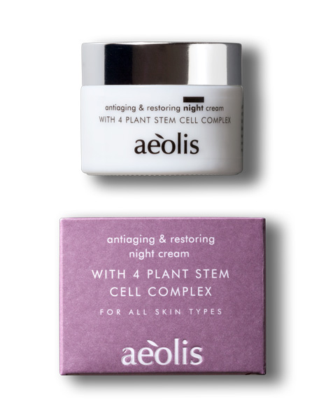 aeolis antiaging and restoring night cream