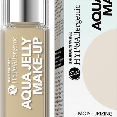 bell: hypoallergenic aqua jelly make-up, 01 porcelain, 02 sand beige, 03 natural