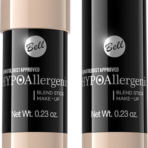 bell: hypoallergenic blend stick make-up, 01 alabaster, 02 rose, 03 peach